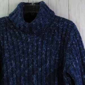 Adrienne Vittadini Cable Knit Blue/Purple Sweater